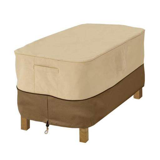 Classic Accessories 55-644-361501-00 Veranda X-Small Patio Ottoman & Table Cover - Pebble