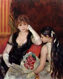 At The Concert Poster Print by  Pierre-Auguste Renoir PDX374122SMALL