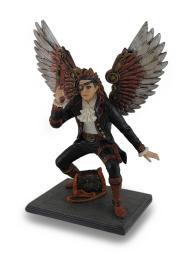 Hand Painted Steampunk Guardian Angel Statue / Figure