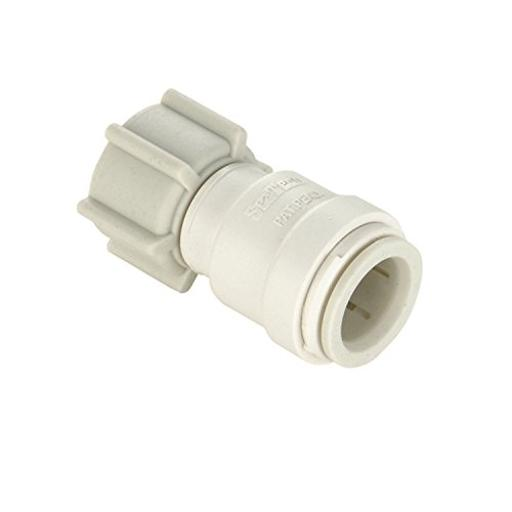 Fresh Water Adapter Fitting 35 Series 1/2 Inch Female Quick Connect Copper Tube End X 1/2 Inch Female Nps Swivel End N