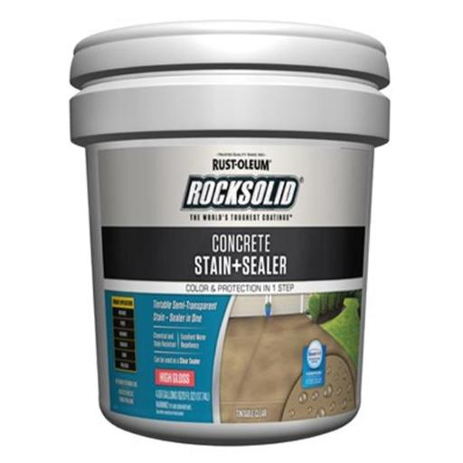 Rust-Oleum 230233 5 gal Rocksolid Concrete Stain & Sealer - High Gloss