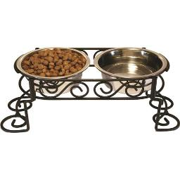 STAINLESS STEEL SCROLL WORK DOUBLE DINER 2 QUART STAINLESS STEEL
