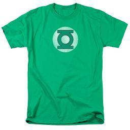 DC Comics Green Lantern Logo Distressed Mens Short Sleeve Shirt KELLY GREEN