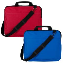 Alta Handled and Over Shoulder Strap Laptop Carrier and Book Bag - Red
