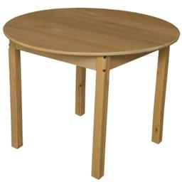 Wood Designs 83626 36 in. Round Hardwood Table With 26 in. Legs