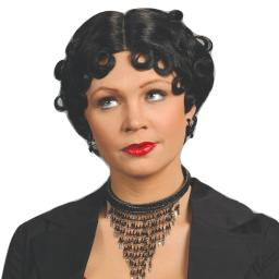 Betty Boop Wig Womens Adult Curly Black Flapper Costume Cartoon 20's Sexy Cute