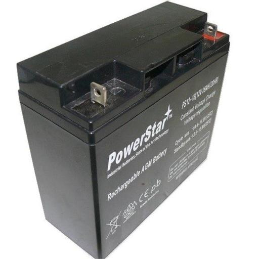 PowerStar PS12-18-97 12V 18Ah Battery for Solar Booster Pac ES5000 Jump Starter Jump Starter