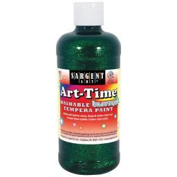 Washable Art-Time(R) Glitter Tempera Paint 16oz Green