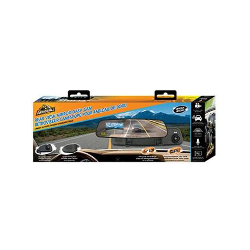 Armor All ADC2-1004-BLK 2.4 in. Rear View Mirror Dash Camera with Built in LCD Color Screen, Black