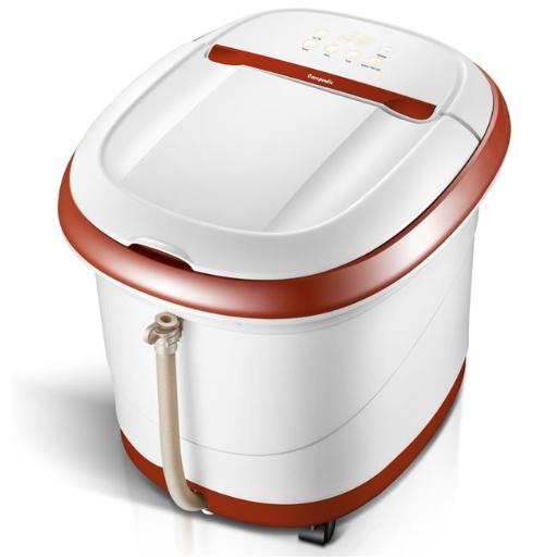 Carepeutic KH305B Touch Screen Oxy Energized Water Jet Foot & Leg Spa Bath Massager - Brown & White