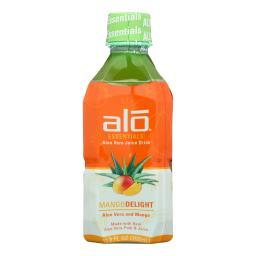 Alo Essentials Mango Delight Aloe Vera Juice Drink - Mango - Case of 12 - 11.8 fl oz.
