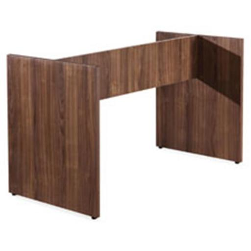 Lorell LLR69995 Walnut Laminate Conference Table Base, 8 ft.