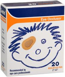 Coverlet Eye Occlusor Pads Regular 2 Inches X 3 - 20 Ct, Pack Of 4