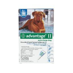 Advantage Blue-100-4 Advantage Flea Control For Dogs And Puppies Over 55 Lbs 4 Month Supply