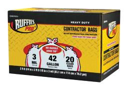 Ruffies Pro 1124919 Heavy Duty Contractor Bags, 20/bags