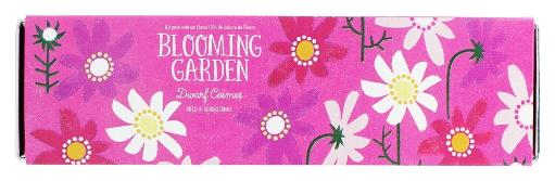 Noted - Blooming Garden Indoor Flower Cultivation Kit Dwarf Cosmos Noted - Blooming Garden Indoor Flower Cultivation Kit Dwarf CosmosNoted Blooming Garden Indoor FlowerCultivation Kit Dwarf Cosmos grows beautiful flowers indoors any time of year. Each kit includes a stylish rectangular tin planter, seeds for a compact flower variety, coco fiber wafers and instructions. While Blooming Gardens will thrive on any sunny window stile, if weather is temperate, they can be transplanted to a patio container or the garden for even more blooms! Packaged with lovely illustrations, Blooming Garden is a great new lines of growing gifts. They Are Noted Noted is a designer, manufacturer and distributor of merchandise for better gift, museum and toy shops. Curious and well-designed activities and kits that appeal to all ages. many of them make great gifts. Founded in 2004, Noted works with designers and manufacturers all over the world especially Japan, the source of a number of Noted's unique products. You'll find products at Luckyvitamin.com