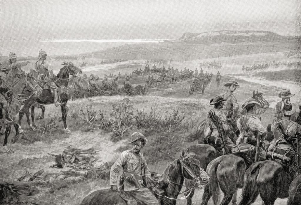 A Reconnaissance In Force With General French's Cavalry Near Colesberg, South Africa, During The Second Boer War. From The Book South Africa And The Transvaal War By Louis Creswicke, Published 1900. PosterPrint