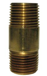 "Anderson Ab113rb-b5 Brass Nipple, 1/4"" X 5"", Red"