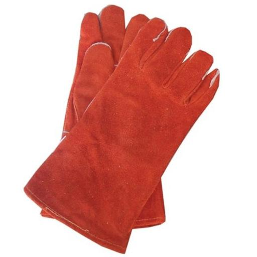 Goods Of The Woods 10904 Cotton Lined Fire Retardant Leather Gloves - Russet Red 13 Inch 75EF3968775FE2E5