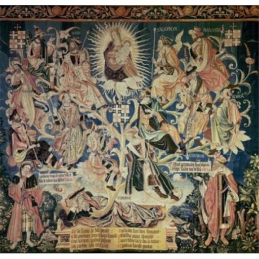 Posterazzi SAL900100602 Tree of Jesse 16th Century Tapestry Textiles Flemish Poster Print - 18 x 24 in.