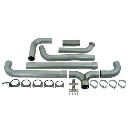 MBRP S8201AL SMOKERS Aluminized Turbo Back Dual Side Exhaust System S8201AL