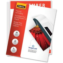 Fellowes 5204002 50 letter laminating pouches