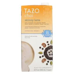Tazo Tea 1901412 32 fl oz Chai Latte Concentrate - Case of 6