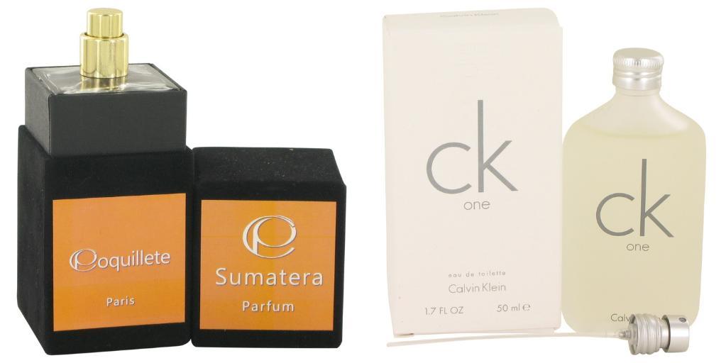 Gift set  Sumatera by Coquillete Eau De Parfum Spray 3.4 oz And  CK ONE EDT Pour/Spray (Unisex) 1.7 oz