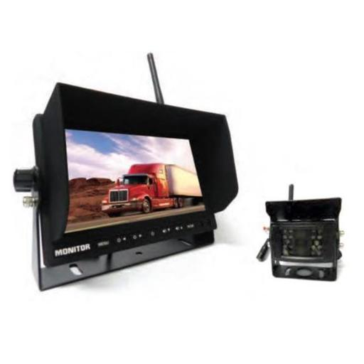 Pyle PLCMTR78WIR 2.4Ghz Vehicle Camera & Video Monitor System with Wireless Video Transmission, Waterproof Rated Cam Display - 7 in.