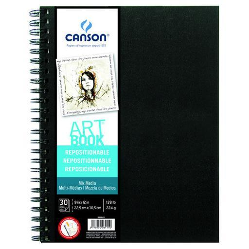 Canson/fila co 200006411 repositionable mix media book 9x12
