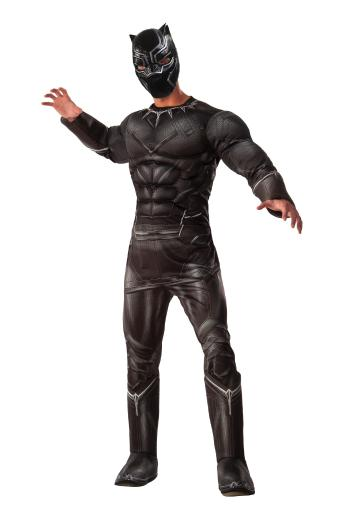 Muscle Chest Deluxe Black Panther Costume Civil War T'Challa Chadwick Boseman