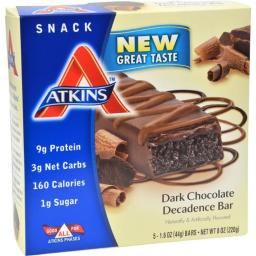 Atkins HG0198531 Advantage Bar Dark Chocolate Decadence, 5 Bars