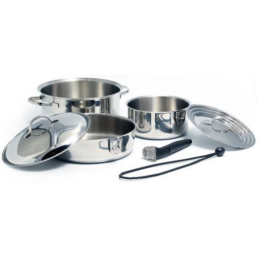 Kuuma 7-Piece Stainless Steel Nesting Cookware Set Induction