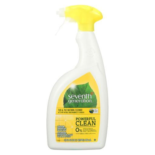 Seventh Generation Tub and Tile Natural Cleaner - Emerald Cypress and Fir - Case of 8 - 32 Fl oz.