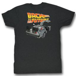 Back To The Future Movies Btf Car Adult Short Sleeve T Shirt