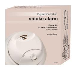 First Alert Battery-Powered Ionization Smoke/Fire Detector - Case Of: 1; Each Pack Qty: 1;