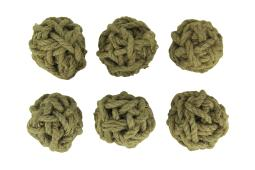 4 Inch Diameter Cole Twine Decorative Rope Balls Set of 6