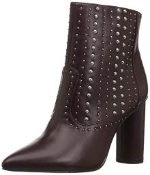BCBGeneration Women's Hollis Studded Bootie Ankle Boot, Burgundy, 8 M US