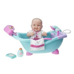 Lots to Love Babies 26480 All-Vinyl Baby Doll in Electronic Sounds Bathtub with Real Working Shower & Faucet - Bulk Pack