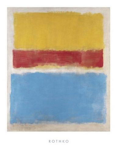 Untitled (Yellow, Red and Blue) Poster Print by Mark Rothko (24 x 32) BXWXYJYCEEXWHHZT