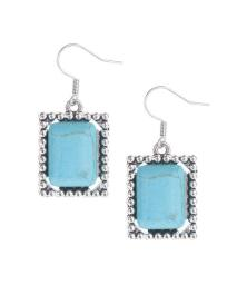 Fortune's Blue Melody Turquoise Retro Earring