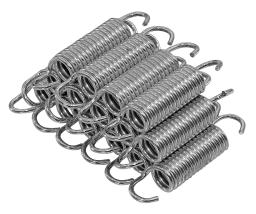"3.5"" Trampoline Springs, heavy-duty galvanized, Set of 15 (spring size measures from hook to hook)"