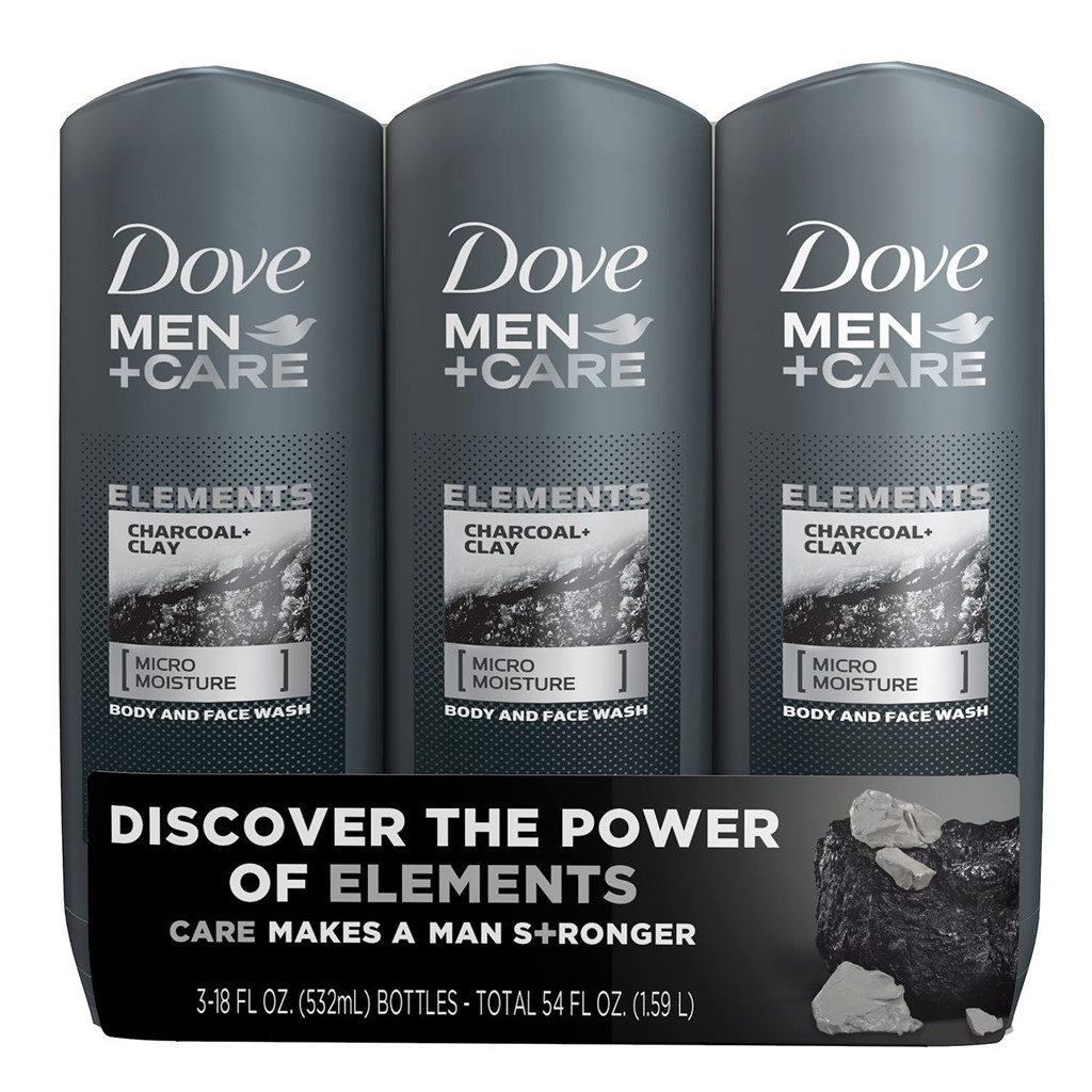 0 Dove Men Care Body Wash Charcoal Clay 18 Fl Oz 3 Pk 63 98 Massgenie Com