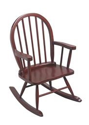 Gift Mark Solid Wood Windsor Childrens Rocking Chair - Cherry