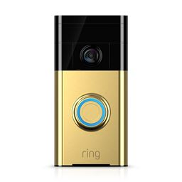 Ring Wi-Fi Enabled Video Doorbell - Polished Brass