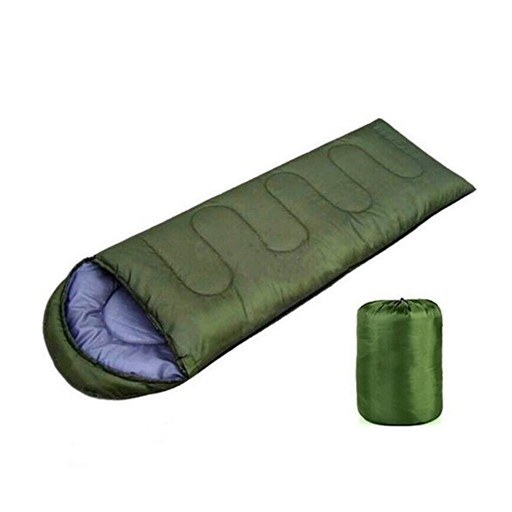 Trail Zero-Degree Lightweight Foldable Insulated Sleeping Bag for Camping/Hiking (Forest Green)