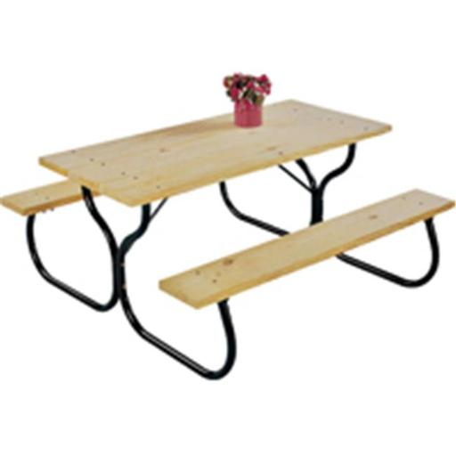 Worldwide Sourcing FC-30 Picnic Table Frame Kit, Black