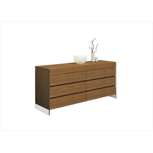 Casabianca Furniture CB-111-D-WA Il Vetro Dresser, Walnut Veneer