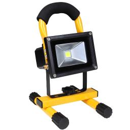 Yescom Rechargeable 10W LED Work Light, IP65 Waterproof LED Flood Spot Light Security Lights for Camping Emergency