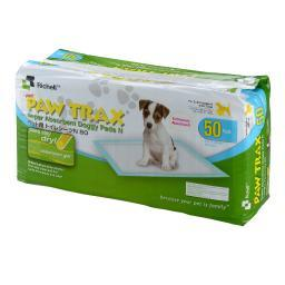 Richell 94542 White Richell Paw Trax Pet Training Pads 50 Count White 17.7 X 23.6 X 0.2